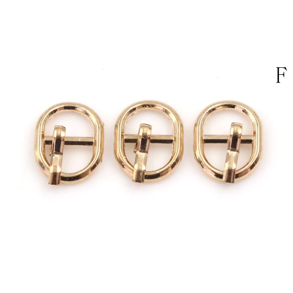 3/10PCS 4.5mm Mini Buckle DIY Patchwork Buckle For Dolls Clothing Adjustable Accessories Handmade Sewing 15
