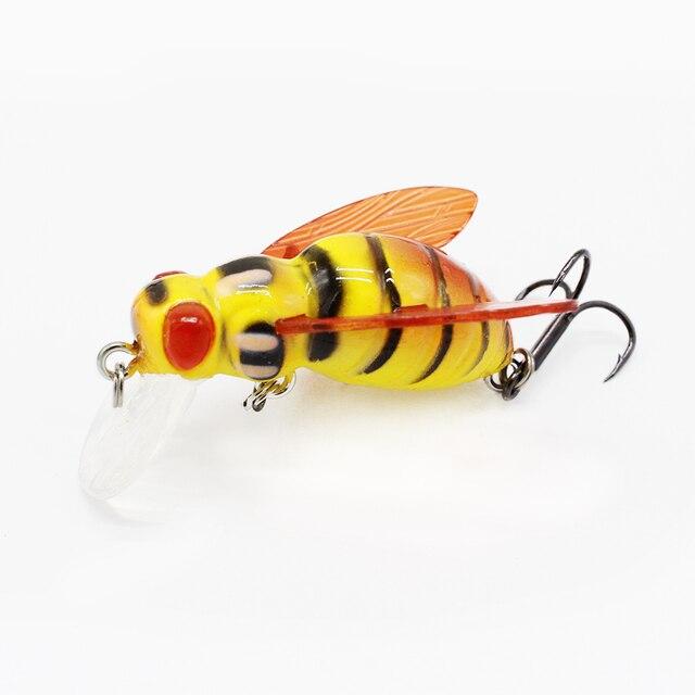 Details about  /Luminous Artificial Swim Bionic Bait Crankbait Insects Fishing Lure Grasshopper