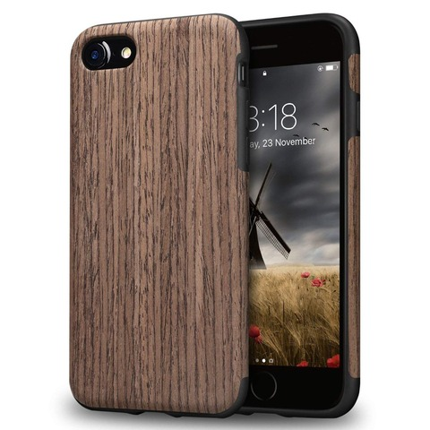 Luxury Wood Grain Phone Case for iPhone 7 8 6 6S Plus Hybrid Soft TPU Silicone Slim Back Cover Case for iPhone X XS MAX XR Coque Lahore