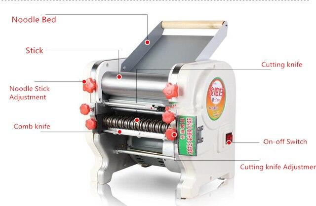 Machine à presser électrique mult-fonctionnelle   Machine manuelle à pâtes en acier inoxydable, Machine à faire des boulettes de nouilles de 750W 220mm de large
