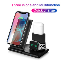 3 in 1 Qi 무선 충전기 for iPhone 11 pro X XR XS 8 Plus 삼성 S8 S9 plus 충전 도크 Apple watch 4 3 2 1 for Airpods