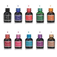 1 PC 30ml Pure Colorful 30ml Fountain Pen Ink Refilling Smooth Liquid Inks Stationery School 10 colors quality is not hurt pen