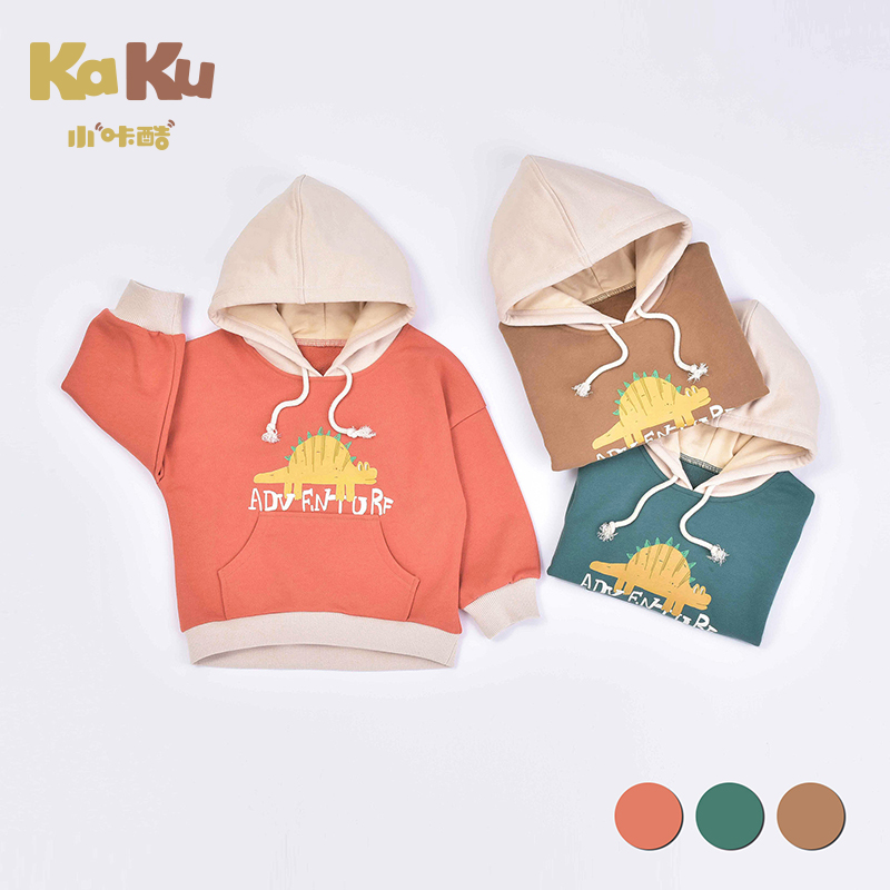 Children's Pullover Plus Velvet Warm Sweater Autumn And Winter Men's And Women's Baby Cardigan Thick Section Tide Foreign Casual