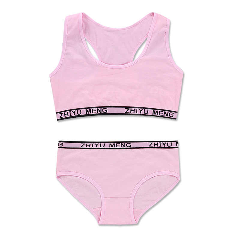 בגיל ההתבגרות בגדי סטי נער ספורט אימוני תחתוני חזייה עבור בנות Teen חזייה ותחתונים סטי 8-14Y