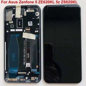 "Image 3 - Original For 6.2"" Asus Zenfone 5 2018 Gamme ZE620KL LCD Display Screen+Touch Panel Digitizer For Zenfone 5Z ZS620KL X00QD +Frame"