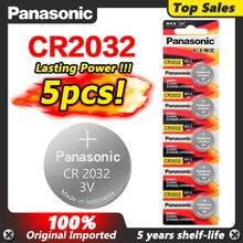 باناسونيك 5 قطعة 3 فولت CR2032 CR 2032 بطاريات ليثيوم ساعة بيلاس زر عملات Celula ل ساعة الكمبيوتر اللوحة الأم آلة حاسبة