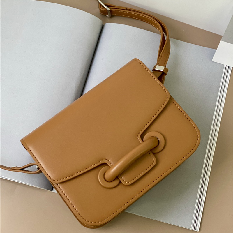 Brand Design Envelope Bag Cow Leather Retro Small Square Shoulder Bag  Buckle Chic Candy Color 2 SIZE  Messenger Female Fat Bag|Shoulder Bags|   - AliExpress