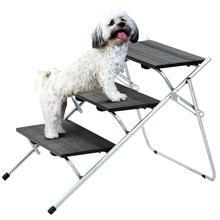 /Negro//hunderampe gato Escaleras Animales Escaleras Crampones niveles UPP/® Perros Escaleras Deluxe de 4/niveles hasta 50/kg/