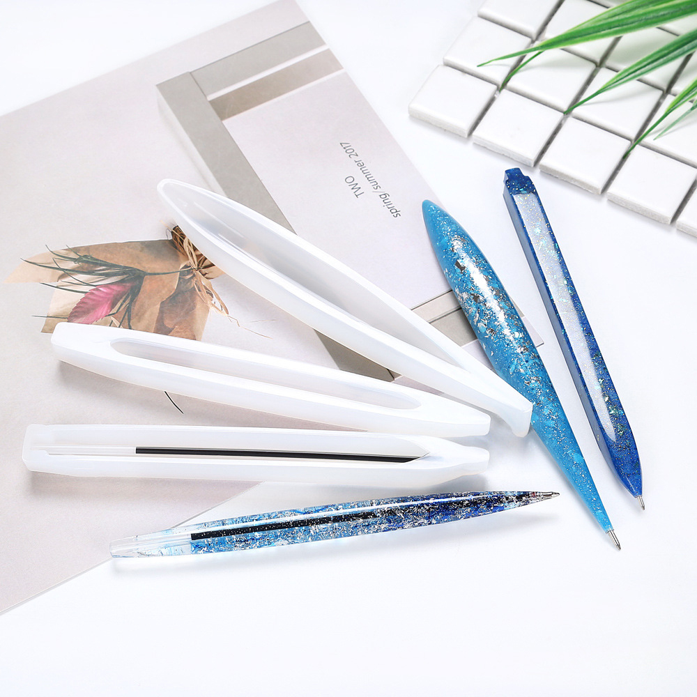 Transparent Silicone Mould Resin Decorative Craft Teacher's Day Gift Pencil Mold Epoxy Resin Molds DIY Unique Pen