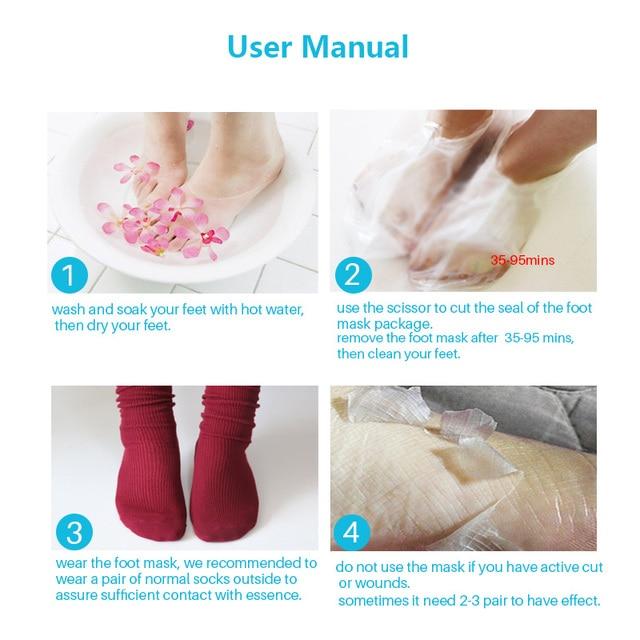 3pair=6 piece Exfoliating Foot Mask Foot Patch Magic Skin Peeling Dead Skin Feet Mask Socks Sosu Socks for Pedicure Socks Cream 6