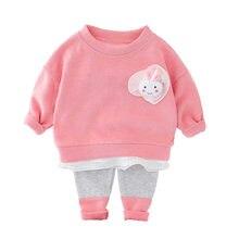 Детский спортивный костюм с кружевным кроликом для девочек;
