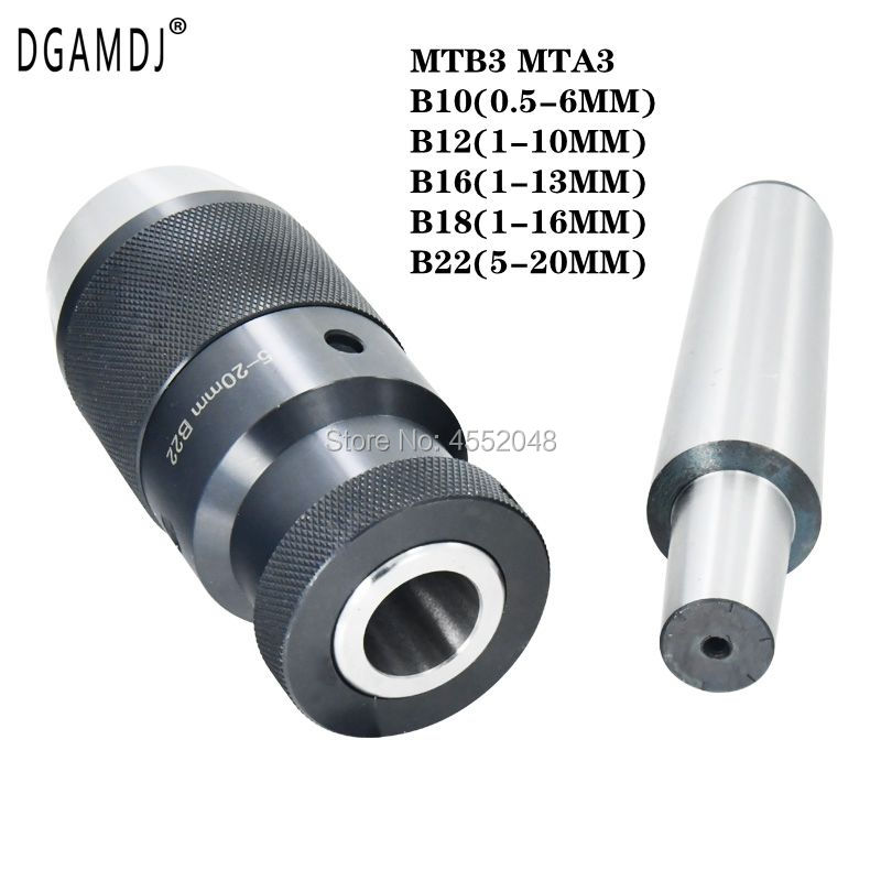 1 set of MT3 B10 B12 <font><b>B16</b></font> B18 B22 <font><b>chuck</b></font> Self-tightening keyless drill disk taper drill disk for drilling machines image