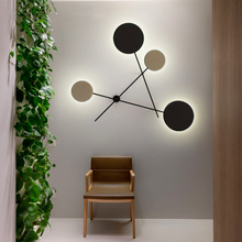 купить Modern Creative LED Wall Lamps Black Lampshade Wall Lamp Bedroom Living Room Decoration Stair Aisle Wall Sconces Light Fixtures по цене 6923.45 рублей