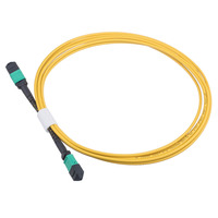 24core MPO MPO female Type B fiber optic patchcords OS2 round cable yellow color 2M 3M 5M jumper