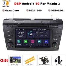 "7 ""PX6 DSP Hexa Core Android 10 AutoRadio Auto DVD Stereo Player für MAZDA3 MAZDA 3 2004 2009 bluetooth GPS Navigation SD RDS BT"