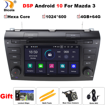 7 PX6 DSP Hexa Core Android 10 AutoRadio Car DVD Stereo Player for MAZDA3 MAZDA 3 2004-2009 Bluetooth GPS Navigation SD RDS BT image