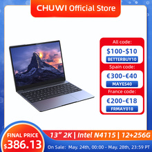 CHUWI GemiBook 13″ 2K IPS Screen LPDDR4X 12GB 256GB SSD Intel Celeron Quad Core Windows 10 Laptop with Backlit Keyboard
