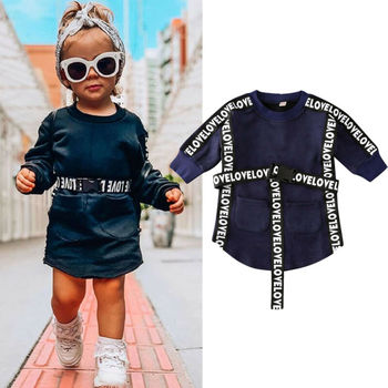 Toddler Infant Baby Girl Clothes Long Sleeve Sweatshirt Sportswear Autumn Winter New Fashion Children Casual Clothing цена 2017