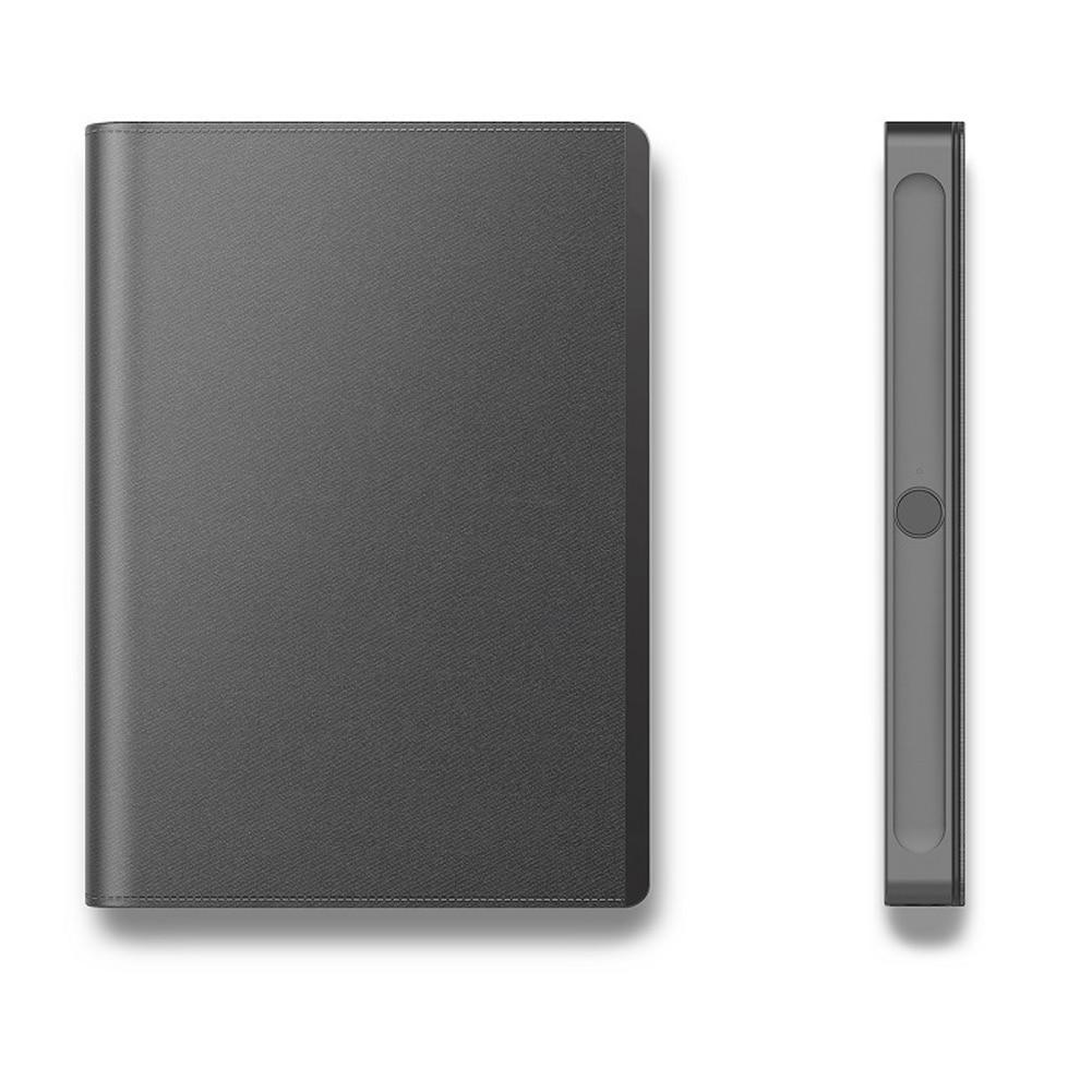 Ordinateur portable de serrure d'empreinte digitale d'agenda à piles avec le bloc-notes intelligent d'impression de pouce