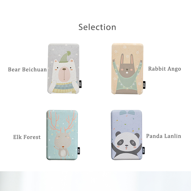 Liberfeel Maoxin mini power bank 8000mah with bag and charing cable finger ring holder cute cartoon panda bear phone accessories 6