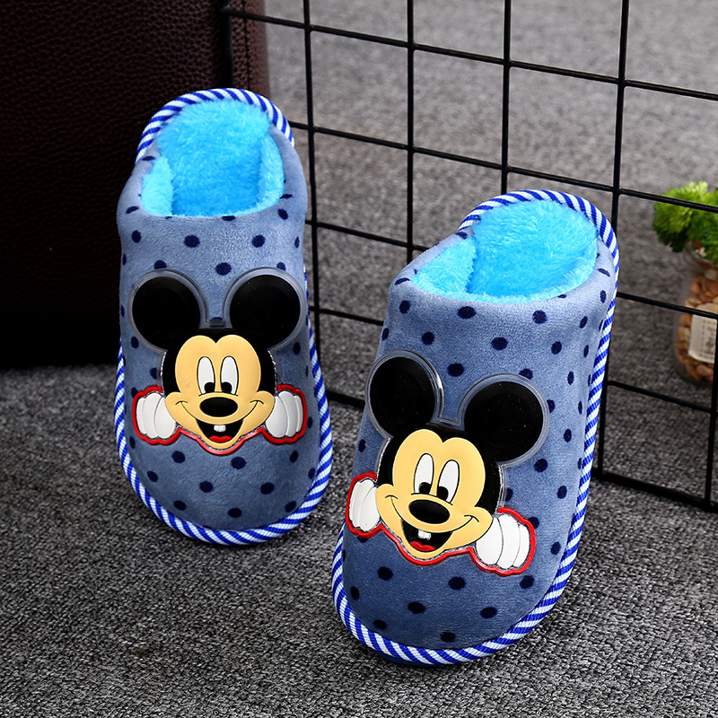 New Winter Slippers For Kids Plush Boy Baby Flip Flop Cartoon Toddler Girls Fur Slides Indoor Shoes Plush Warm Children Slippers