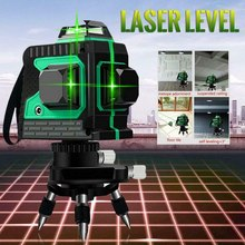 Laser Level 8/12 Lines 3D Self-Leveling Recharge 360°line Laser Horizontal Vertical Cross Green/red Laser Beam Line Waterproof