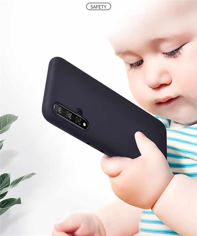 Para Huawei Honor 8x8 9 10 Lite caso líquido Original de silicona para Huawei Honor 10i 20i View 9 10 20 30 Pro jugar 9X Coque