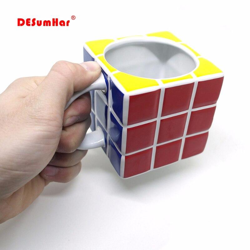 Unique Gift Tetris Cube Mugs Fashion Ceramic Tea Coffee Mug Coffee Cup Milk Juice Lemon cup Home Office Drinkware Kettle|Mugs| |  - title=