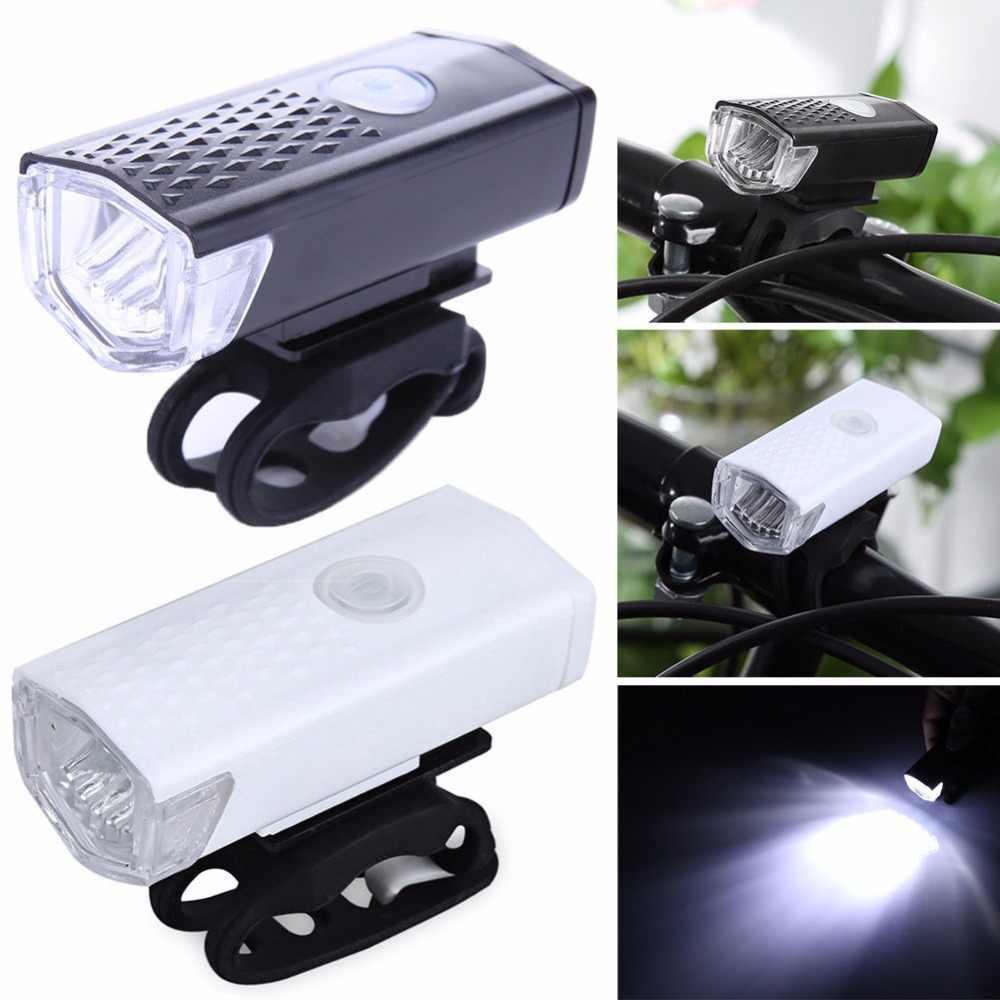 Rower światła USB akumulator 300 lumenów 3 tryb rowerów przednie światła lampa wodoodporna 6000K jazda na rowerze rower reflektorów latarka LED
