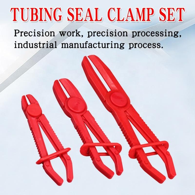3pcs/set Plastic Tubing Cut-off Pliers Tubing Seal Pliers Auto Repair Special Plastic Pliers Auto Tubing Clamp Tool