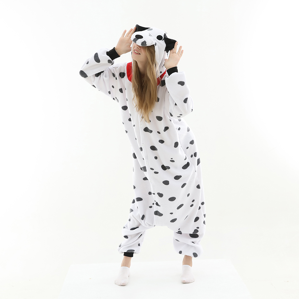 New Anime Animal Dalmatian Pajamas Cartoon Pluto Dog Kigurumi Onesies Women Men Carnival Christmas Halloween Party Costumes
