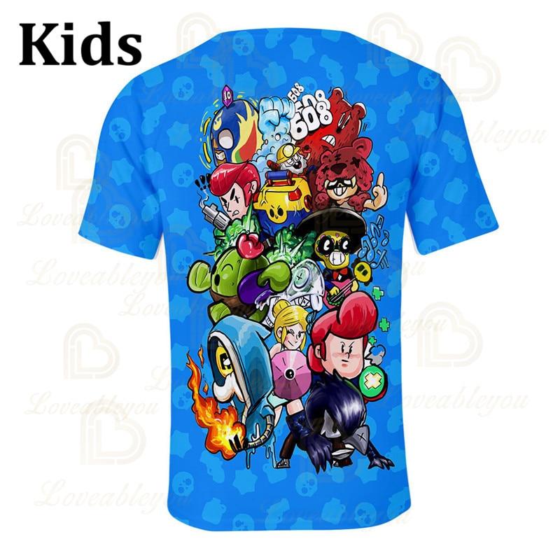 Kids VOID Crow Shark Leon Star Children's Wear Kids T-shirt Shooting Game 3d Shirt Brawling Boys Girls Tops Tshirt Teen Clothes