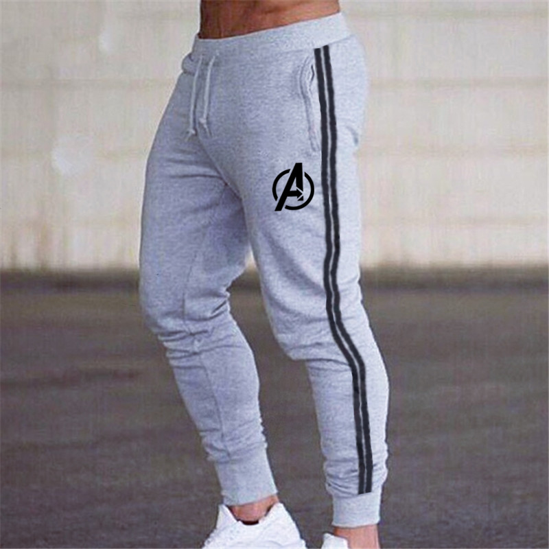 Joggers Sweatpants Men's Casual Skinny Pants Black Trousers Male Gym Fitness Workout Cotton Trackpants Spring Autumn Sportswear