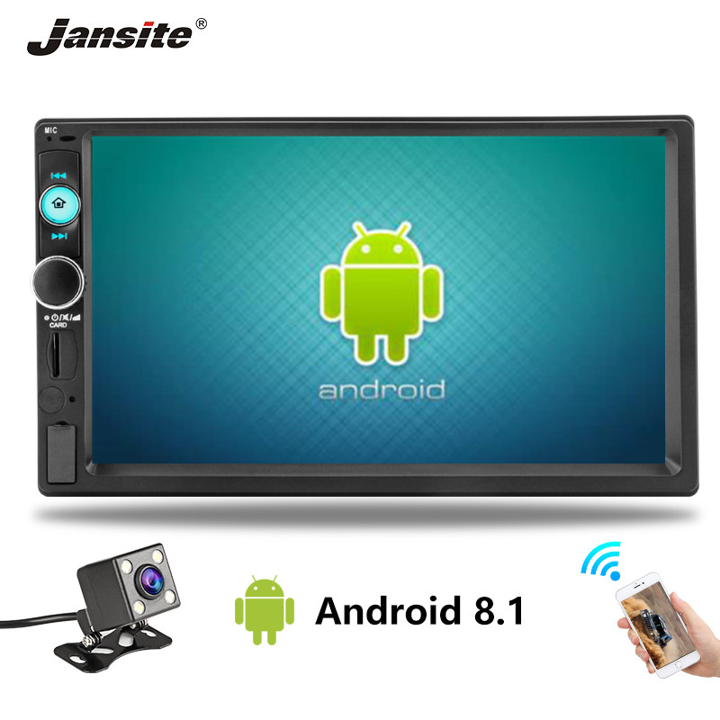 Jansite 2 din 7 pouces HD Android lecteur autoradio numérique écran tactile Bluetooth miroir lien USB câble vidéo médias universels