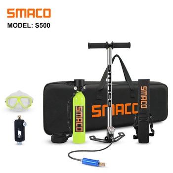 SMACO Scuba Diving Equipment Mini Scuba Cylinder Scuba Diving Oxygen Box Snorkel Tank S500 Kit quest scuba tector