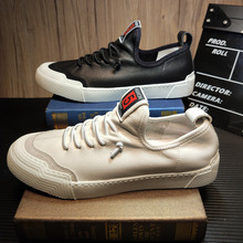 2019 New Designer Man Summer Fashion Real Leather Shoes Breathable Sneakers Casu