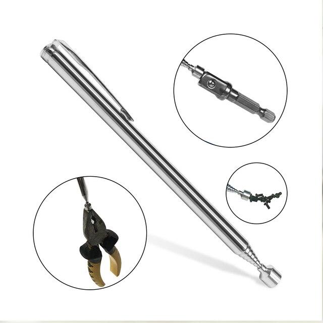 Mini przenośny teleskopowy magnetyczny pióro magnetyczne Pick Up Rod Stick rozszerzenie magnes ręczny Pick Up Mini długopis zestawy narzędzi ręcznych