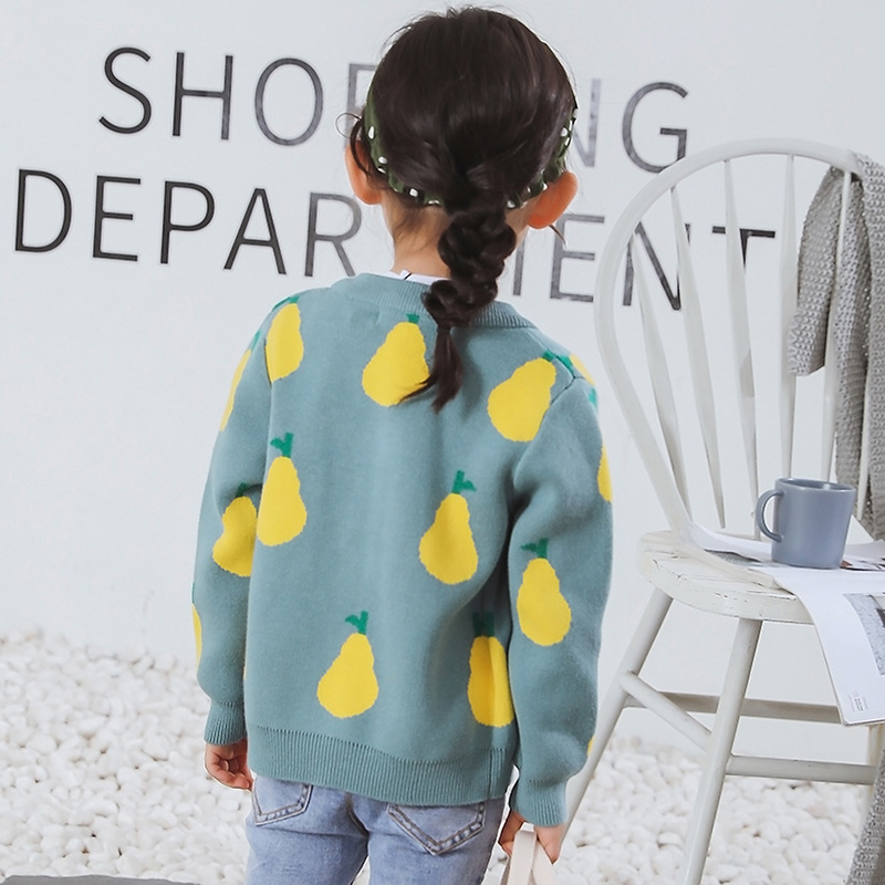 New Girl Cartoon Sweaters Baby Cotton Knit Cardigan Sweater Kids Long Sleeve Autumn Children Clothes Fashion Boy Girl Outer Wear 5