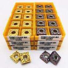 Hartmetall einfügen SNMG120404 SNMG120408 MA VP15TF UE6020 US735 Metall zylindrische drehen cnc-drehmaschine werkzeug SNMG drehen werkzeug