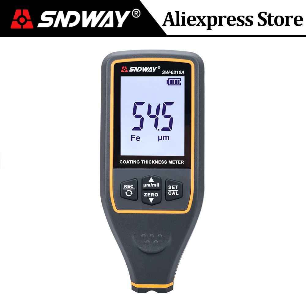 SNDWA Digital Auto Coating Thickness Gauge Refinishing Car Paint Meter Film Thickness Tester Width Measuring Instrument SW-6310A