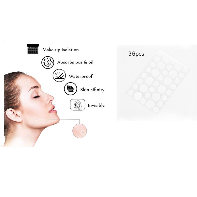 36Pcs Acne Patch & Skin Tags Beauty Set Remover Pimple Master Patch Treatment Intense Care Low Stimulus Facial Tools