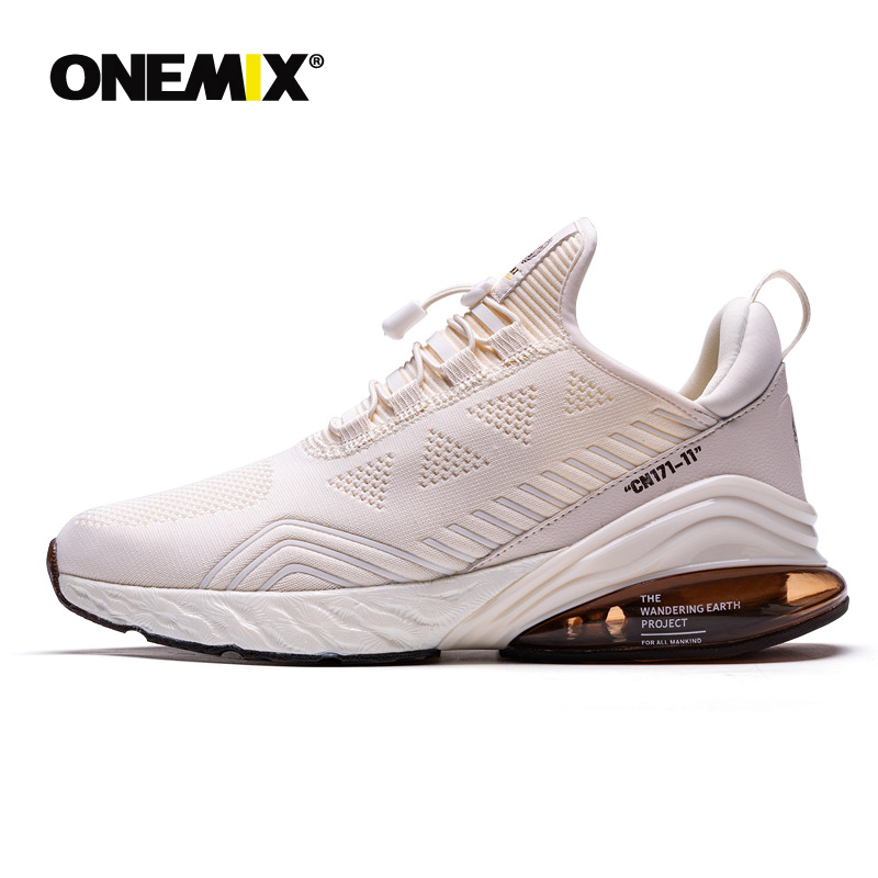 ONEMIX Men Running Shoes Sports Half Air Cushioning Slip On Footwear Athletic Outdoor Trainning Shoes Walking Jogging Sneakers