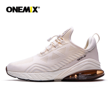 ONEMIX Men Running Shoes Sports Half Air Cushioning Slip On
