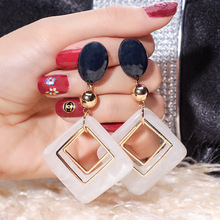 Fashion New Womens Acrylic Geometric Drop Earrings Hot Square Selling Long Dangling For Women Wedding Jewelry Brincos