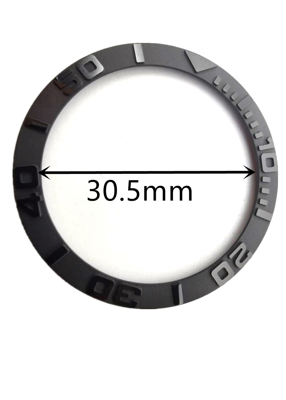 38mm preto cerâmica moldura inserir ajuste 40mm