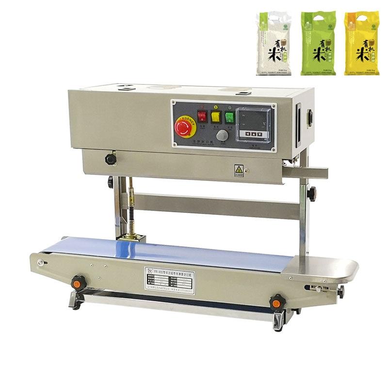 Vertical Automatic Sealing Machine Commercial Aluminum Foil Bag FIlm Continuous Sealing Multi-Function Heat Sealing Machine