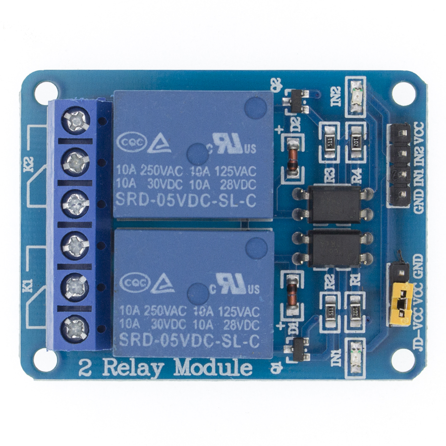 5V 2-Channel Relay Module Shield For Ardui ARM PIC AVR DSP Electronic 5V 2 Channel Relay Module