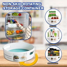 Hot Sale Non-Skid Rotating Storage Container Organizer for Home Kitchen Cosmetics Seasoning Drop Ship