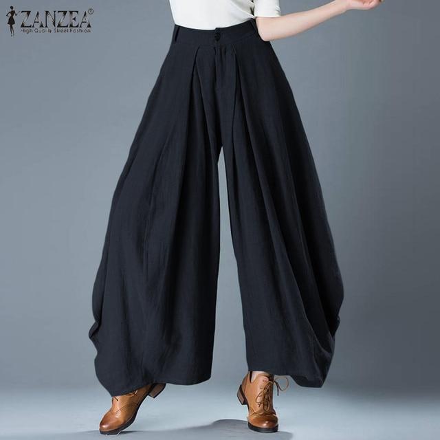 Plus Size Elegant Solid Wide Leg Pants 4