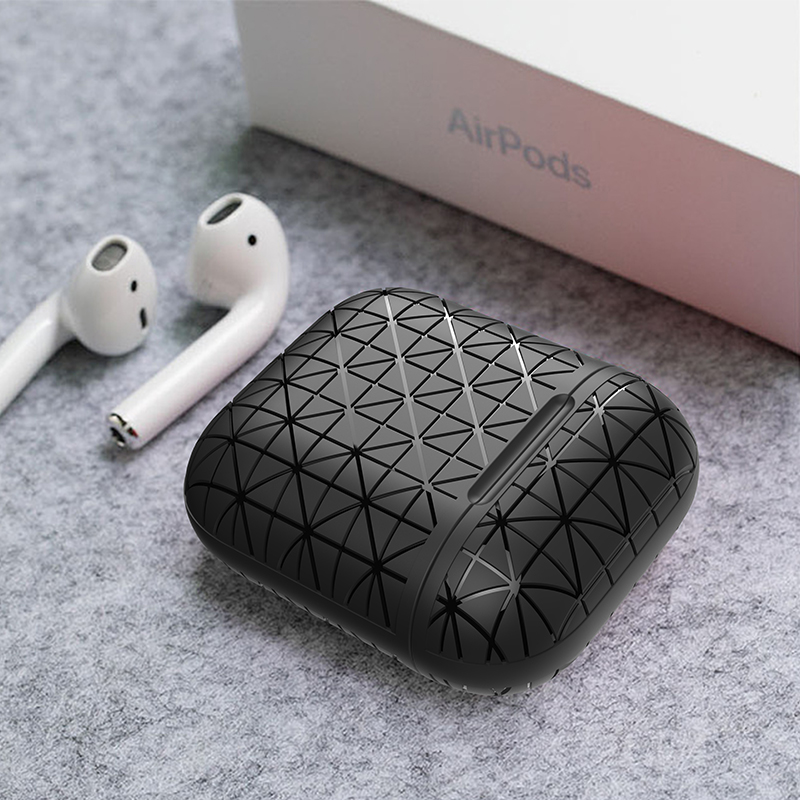 Soft <font><b>Silicone</b></font> Cover For <font><b>Apple</b></font> <font><b>Airpods</b></font> <font><b>Case</b></font> Earphone Accessories Box Anti-fall Triangle Wireless Bluetooth Bag For <font><b>Airpods</b></font> <font><b>Case</b></font> image